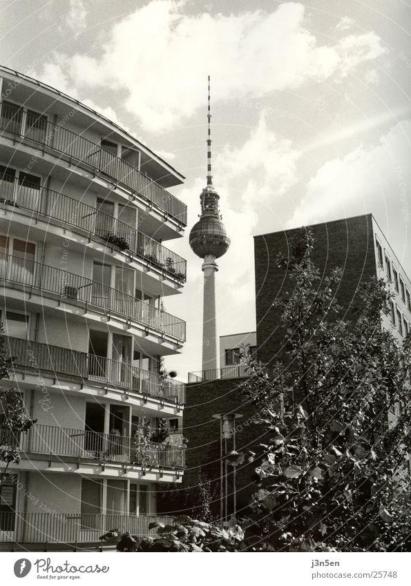 Fernsehturm Haus Berlin Architektur Turm Balkon Berliner Fernsehturm Alexanderplatz