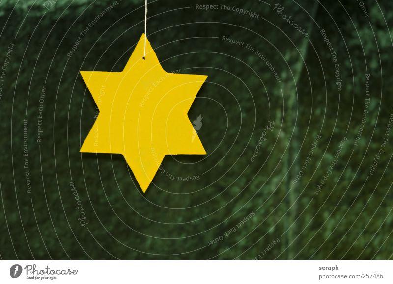 Stern Stern (Symbol) shaped wood gelb Oberfläche Produkt Material Grundriss Grafik u. Illustration striking Weihnachten & Advent Symbole & Metaphern Piktogramm