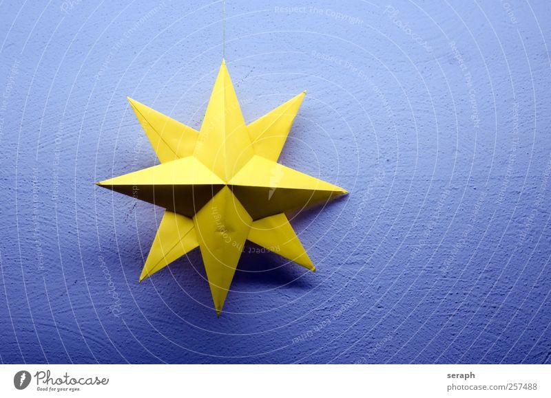 Stern Stern (Symbol) Strukturen & Formen Papier gelb Oberfläche Produkt Material Grundriss Grafik u. Illustration Reibefläche Weihnachten & Advent handmade