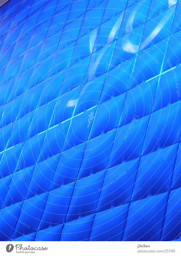 Blue Texture blau Wand Architektur CeBIT