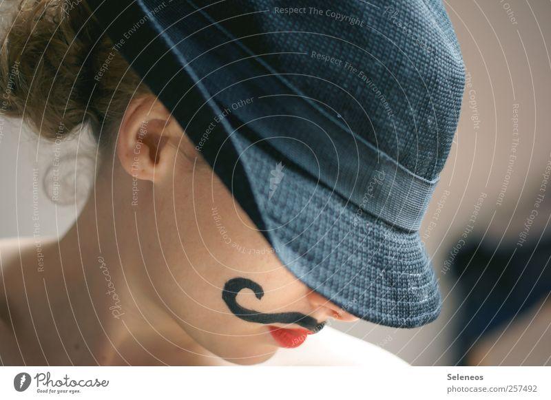 Guten Rutsch, Amigos. schön Körper Haare & Frisuren Haut Gesicht Schminke Lippenstift Mensch feminin Junge Frau Jugendliche Erwachsene Ohr Mund 1 Hut Farbfoto