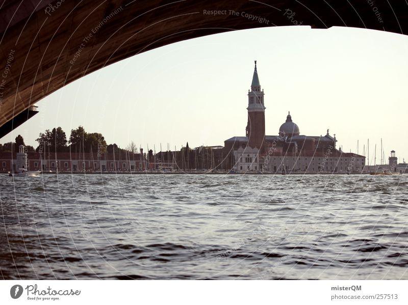 Venecian Perspective II Meer Kunst Insel ästhetisch Turm Romantik Reisefotografie Italien Wahrzeichen Sehenswürdigkeit Venedig Mittelmeer Hafenstadt Städtereise Veneto