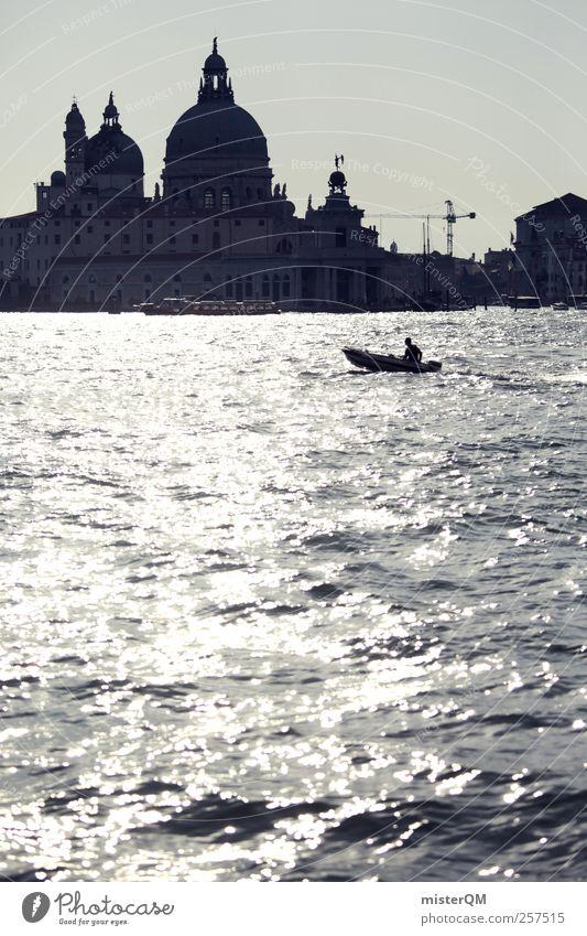 Santa Maria della Salute. Ferien & Urlaub & Reisen Meer Kunst Wasserfahrzeug ästhetisch Tourismus Romantik Kultur Reisefotografie Idylle Italien Skyline Fernweh