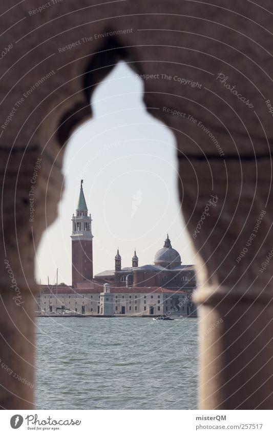1.111 Perspectives Kunst ästhetisch Venedig Veneto San Giorgio Maggiore Bogen Turm Insel Mittelmeer Fernweh Meer Italien Torbogen fantastisch