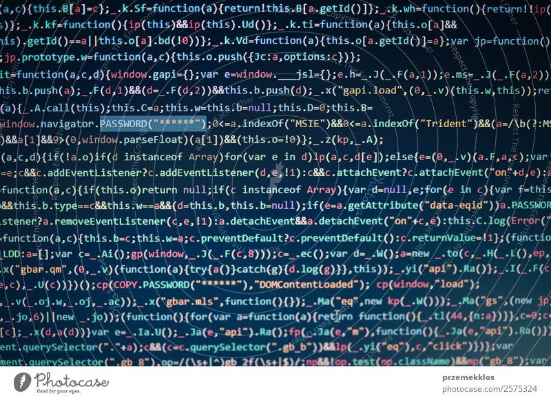 Computerbildschirm mit Anzeige des Programmcodes Beruf Telekommunikation Notebook Bildschirm Software Technik & Technologie High-Tech Informationstechnologie