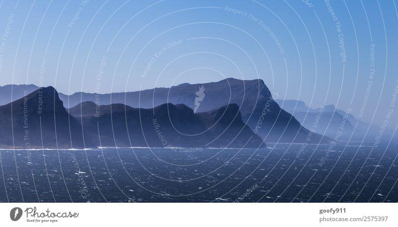 Unten am Kap Südafrika Ferien & Urlaub & Reisen Tourismus Ausflug Abenteuer Ferne Freiheit Meer Berge u. Gebirge Landschaft Himmel Horizont Hügel Wellen Küste