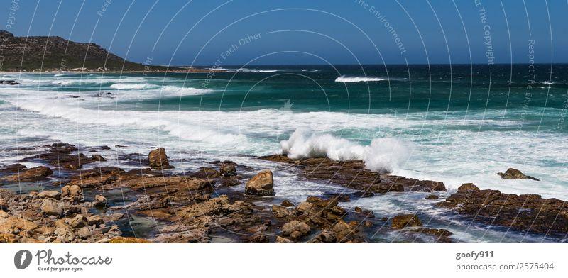 Wilde Küste Südafrikas Ferien & Urlaub & Reisen Tourismus Ausflug Abenteuer Ferne Freiheit Strand Meer Wellen Umwelt Natur Landschaft Erde Wasser Wind Sturm