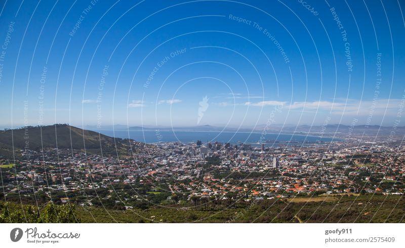Kapstadt Ferien & Urlaub & Reisen Tourismus Ausflug Abenteuer Ferne Freiheit Sightseeing Städtereise Berge u. Gebirge Hügel Meer Südafrika Afrika Stadt
