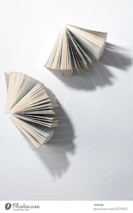 Zwei Bücher weiß Schule Freizeit & Hobby hell Perspektive lernen Buch Studium lesen Erwachsenenbildung Bildung Wissenschaften Weisheit