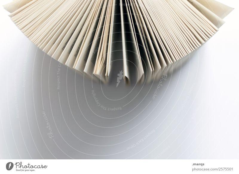 Buch 90° weiß Schule Freizeit & Hobby hell Perspektive lernen Studium lesen Bildung Wissenschaften Berufsausbildung Buchseite Printmedien Weisheit