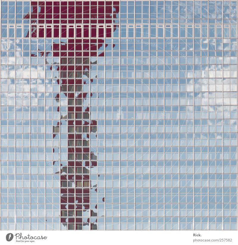.niedrig aufgelöst blau Stadt Haus Architektur Stein Gebäude Büro Metall Glas Fassade Hochhaus Turm Geldinstitut Bauwerk violett Beruf