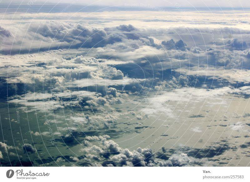 WolkenMeer Himmel Natur blau Wasser weiß Ferien & Urlaub & Reisen Landschaft oben Luft Wind fliegen nass hoch frei