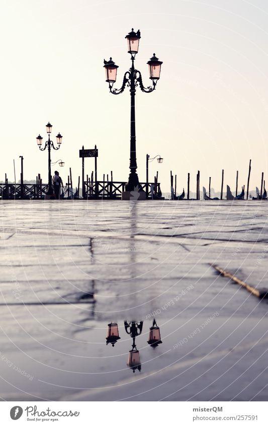Venecian Perspective III Kunst ästhetisch Venedig Veneto Laterne Laternenpfahl Italien Städtereise Hafenstadt Ferien & Urlaub & Reisen Urlaubsstimmung