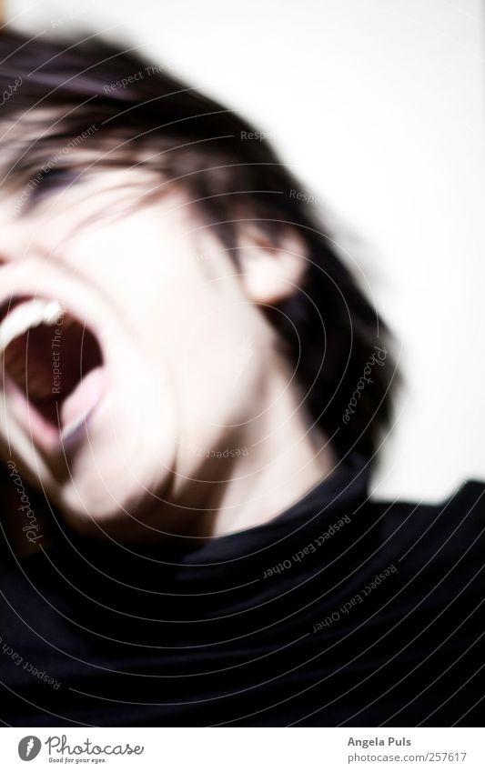 tage wie dieser Frau Mensch schwarz Erwachsene feminin Gefühle Kopf Kraft Wut schreien Aggression Ärger Euphorie 30-45 Jahre
