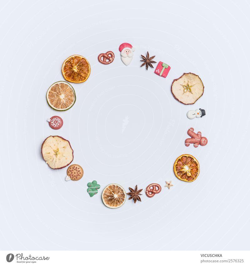 Getrocknete Früchte und Marzipan Weihnachtsdekor Weihnachten & Advent Winter Hintergrundbild Stil Feste & Feiern Frucht Design Dekoration & Verzierung Orange