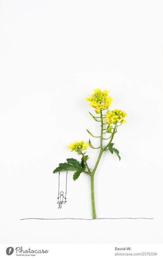 Schaukel Freude Glück Gesundheit harmonisch Zufriedenheit Erholung ruhig Mensch Kind Kindheit Leben 1 Kunst Umwelt Natur Sommer Blume Spielen schaukeln