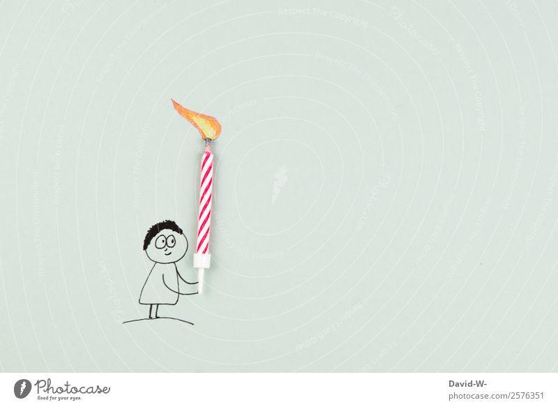 Happy Birthday elegant Mensch maskulin feminin Kind Frau Erwachsene Mann Jugendliche Leben 1 Kunst Lächeln Geburtstag Geschenk Kerze Überraschung Freundlichkeit