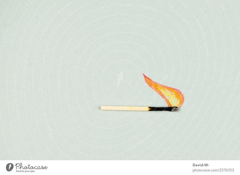 Feuer Lifestyle Party Weihnachten & Advent Geburtstag Mensch Leben Kunst Kunstwerk leuchten Flamme Streichholz Wärme Basteln Zeichnung brennen lustig Idee