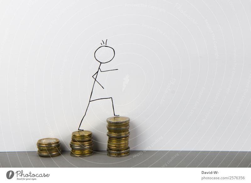 Erfolgreich Mensch Mann Erwachsene Leben Glück Business Kunst elegant Wachstum Studium Geld Baustelle planen Bildung Geldinstitut