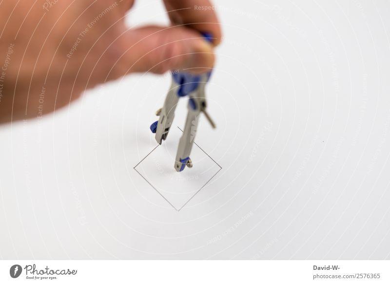 ein Queis Mensch Mann Hand Erwachsene Leben Business Kunst Schule maskulin Kreativität Perspektive lernen Idee planen Erwachsenenbildung Bildung