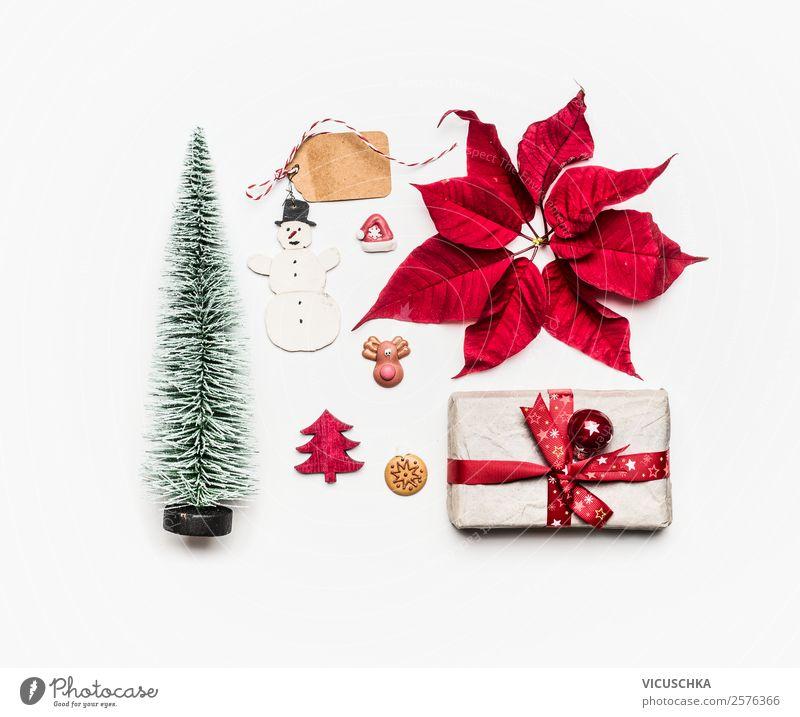 Weihnachten Dekoration und Geschenck auf weiß kaufen Stil Design Winter Dekoration & Verzierung Party Veranstaltung Feste & Feiern Weihnachten & Advent Ornament