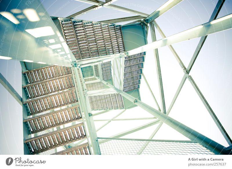 Chamansülz - High Ambitions Himmel Architektur hoch Treppe außergewöhnlich Metallwaren Turm Bauwerk Schönes Wetter gigantisch Hochsitz Wachturm Metallbau