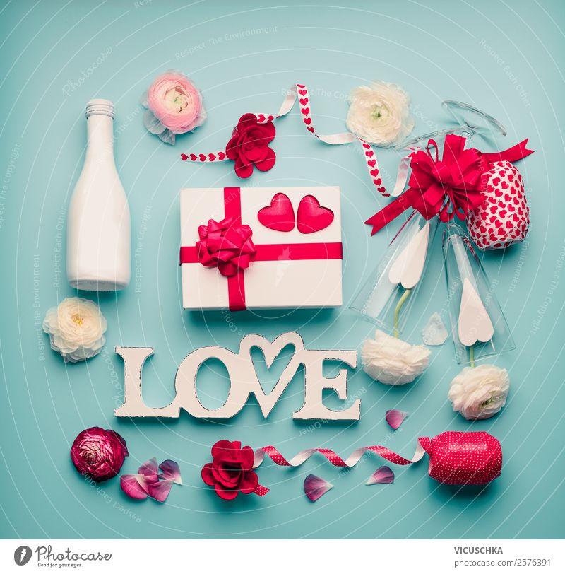 Romantische Sachen mit Geschenk und Wort Love kaufen Stil Design Dekoration & Verzierung Tisch Party Veranstaltung Feste & Feiern Valentinstag Hochzeit