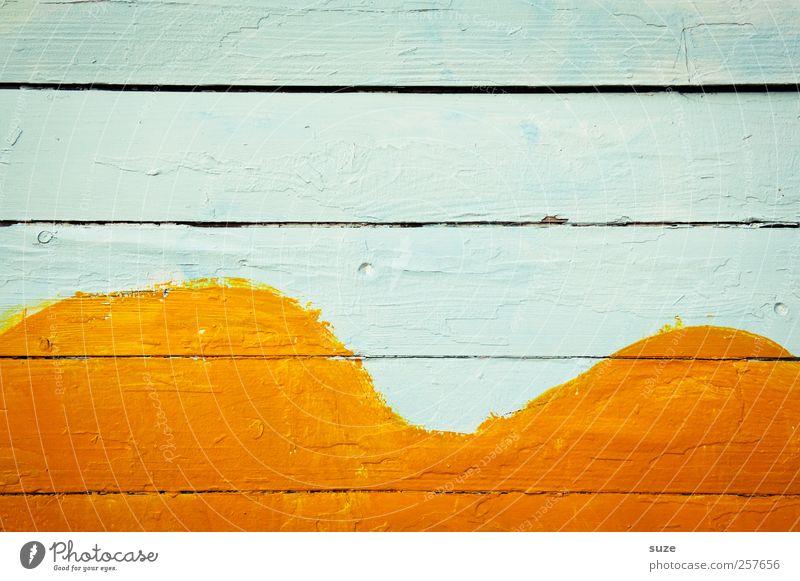 Kamel Fassade Holz Zeichen Linie Streifen trocken gelb weiß Farbe Verfall Vergänglichkeit Wand Zaun Holzbrett Bogen orange Hintergrundbild Holzwand bemalt