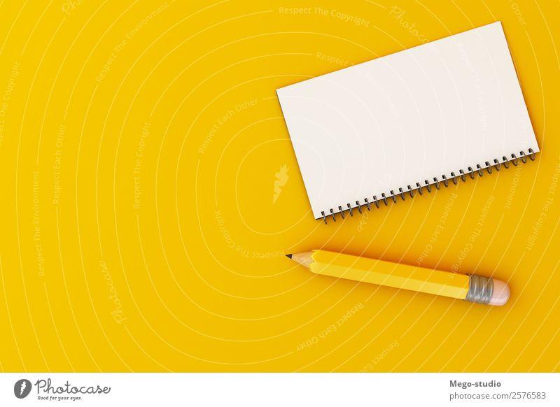 3d Spiralhefter Notizblock und Bleistift. Bildungskonzept. Design Schule Studium Arbeit & Erwerbstätigkeit Büro Business Werkzeug Kunst Accessoire Schreibstift