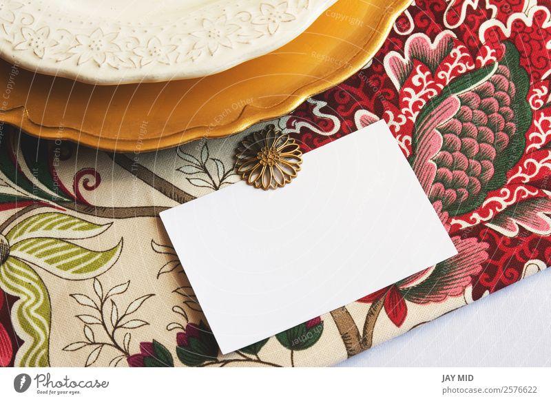 Thanksgiving Platzkarten mit bearbeitbarem Typ und Goldplatte Abendessen Teller Besteck Gabel Löffel elegant Dekoration & Verzierung Tisch Feste & Feiern