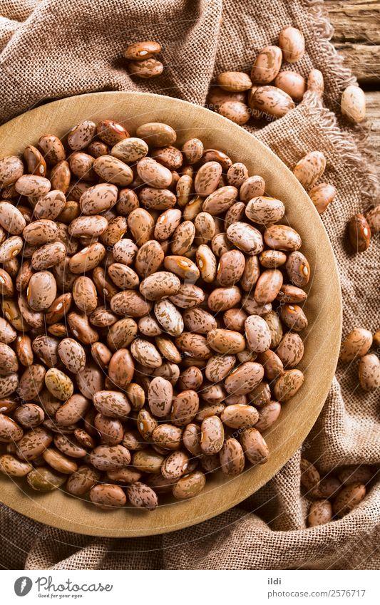 Roh getrocknete Pinto-Bohnen Gemüse Teller Gesundheit Lebensmittel Schecke Pintobohne Hülsenfrüchtler Puls trocknen gefleckt Essen zubereiten allgemein