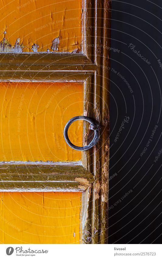 gelbe tür, matisi höhlen-china Haus Kunst Platz Gebäude Architektur Balkon Tür Denkmal Holz alt authentisch rot Religion & Glaube gelbe Tür antike Tür