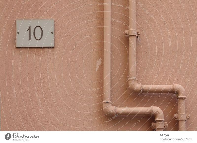 Richtungswechsel Stadt Wand Mauer lustig rosa Röhren Ordnungsliebe Hausnummer Umweg