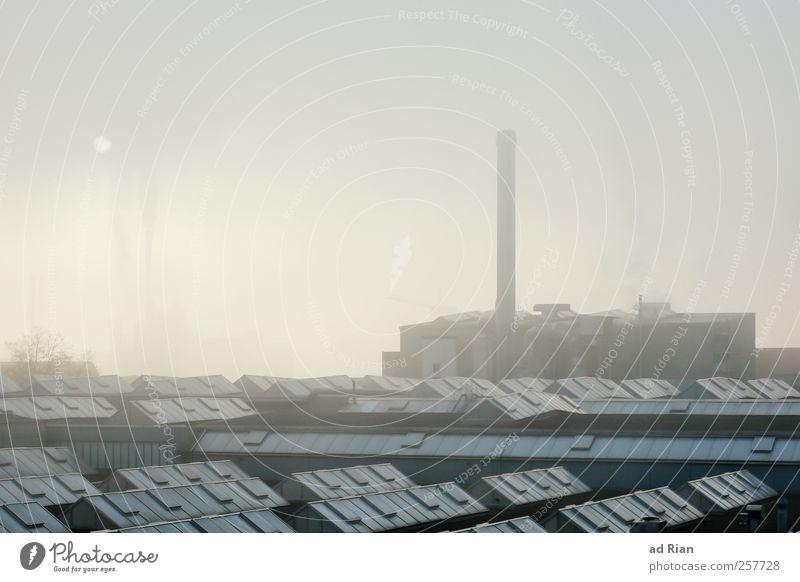 working class Fabrik Wirtschaft Industrie Umwelt Himmel Wolken Winter Nebel Industrieanlage dunkel Stress Stimmung Farbfoto Außenaufnahme Textfreiraum oben Tag