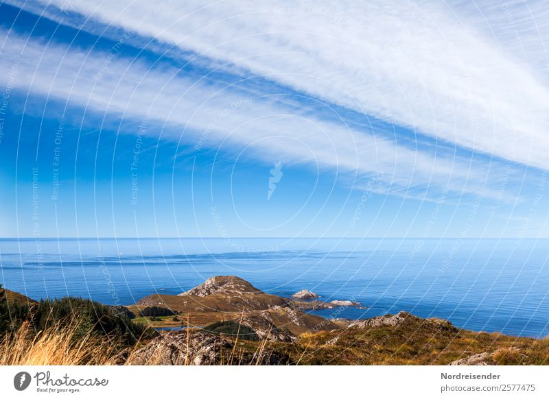 Norwegens Westküste am Atlantik Ferien & Urlaub & Reisen Tourismus Ferne Freiheit Camping Sommerurlaub Meer Insel Natur Landschaft Urelemente Wasser Himmel
