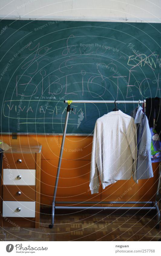 Biblioteca Lifestyle Stil Design Freude Kindererziehung Bildung Schule lernen Klassenraum Tafel Farbfoto Innenaufnahme Menschenleer