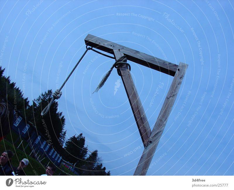 Galgen Tod Seil historisch Schlaufe Judentum Konzentrationslager Elsass Nationalsozialismus Todesarten Holzgestell Faschismus Natzweiler Todesstrafe
