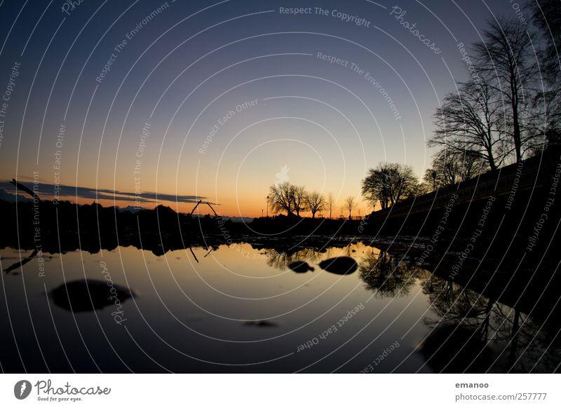 die Boden Seen Ferien & Urlaub & Reisen Umwelt Natur Landschaft Wasser Himmel Wolkenloser Himmel Sonnenaufgang Sonnenuntergang Klima Wetter Schönes Wetter