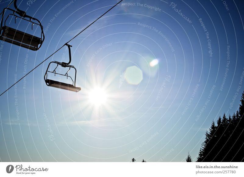 lässt skifahrerherzen höher schlagen Himmel Natur Ferien & Urlaub & Reisen Sommer Sonne Landschaft Winter Wald Berge u. Gebirge Umwelt Schnee Freizeit & Hobby Tourismus wandern leer Ausflug