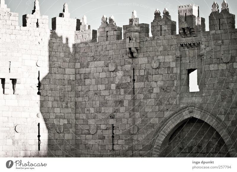 Damaskustor Jerusalem Altstadt Israel Naher und Mittlerer Osten Hauptstadt Menschenleer Tor Bauwerk Gebäude Architektur Mauer Wand Fassade Tür Sehenswürdigkeit