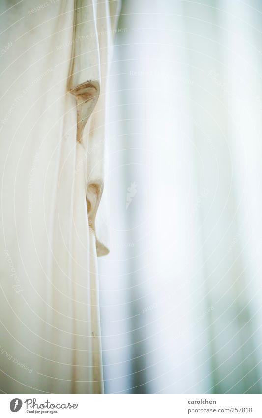 Maria Skulptur gold grau weiß Reinheit bescheiden Hoffnung Kirche Religion & Glaube Faltenwurf zart Tracht Farbfoto Gedeckte Farben Innenaufnahme Detailaufnahme