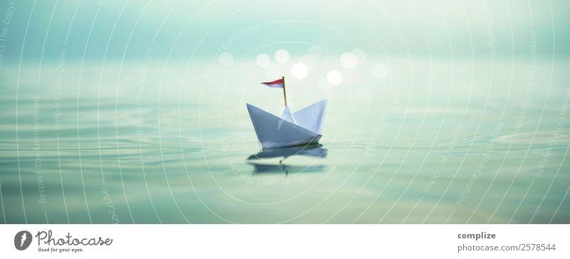 Sail away | Paper Boat Panorama Kind Ferien & Urlaub & Reisen Sommer Wasser Sonne Meer Erholung Reisefotografie Strand Gesundheit Leben Umwelt Freiheit