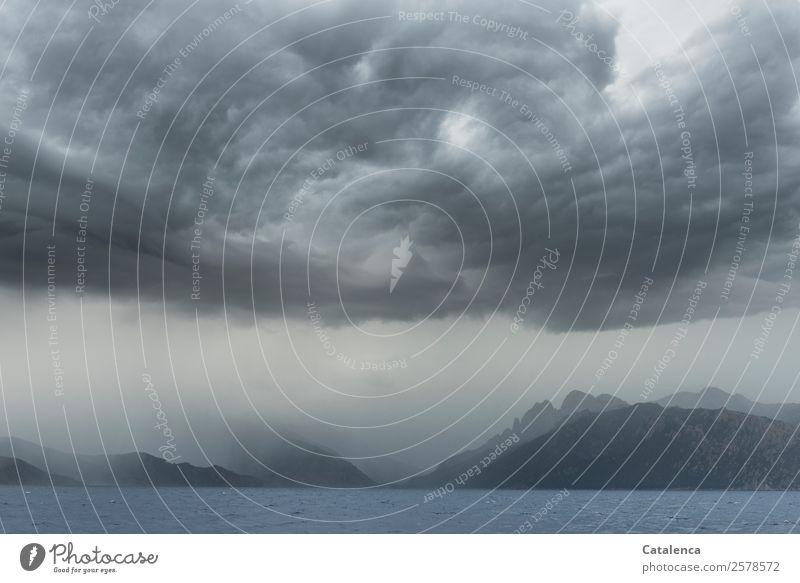 Schlechtwetter Segeln Ferien & Urlaub & Reisen Abenteuer Ferne Freiheit Natur Wasser Himmel Wolken Gewitterwolken Sommer Wetter schlechtes Wetter Unwetter Regen