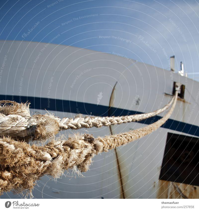 Tauwerk Ferne Kreuzfahrt Sommer Güterverkehr & Logistik Wolkenloser Himmel Sonne Küste Schifffahrt Passagierschiff Kreuzfahrtschiff Dampfschiff Containerschiff