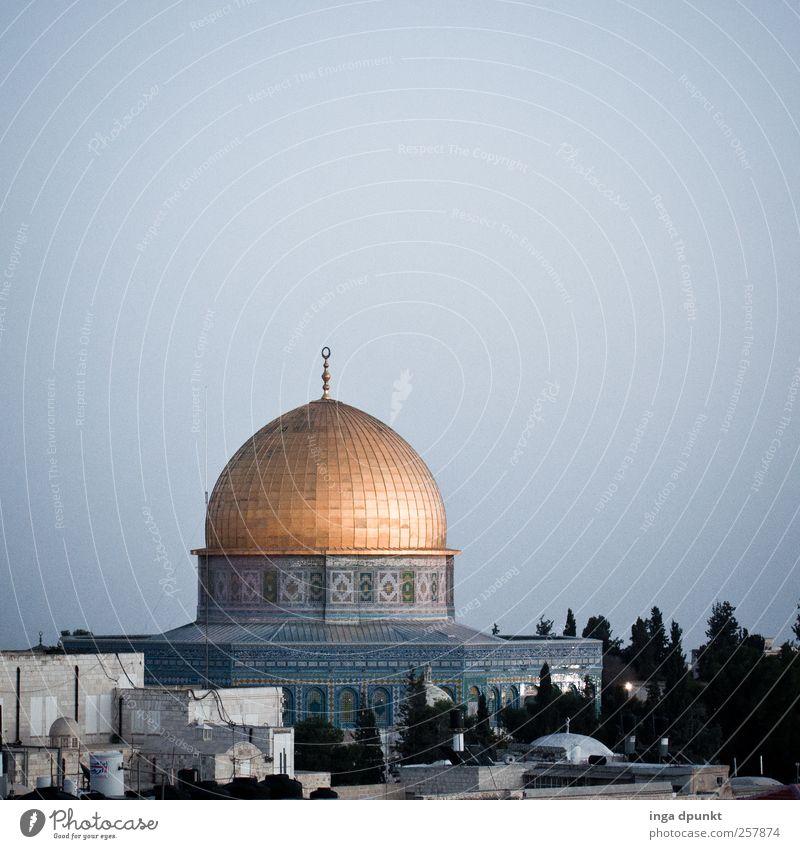 Felsendom Jerusalem Naher und Mittlerer Osten Israel Stadt Hauptstadt Stadtzentrum Menschenleer Dom Turm Bauwerk Gebäude Architektur Kuppeldach Sehenswürdigkeit