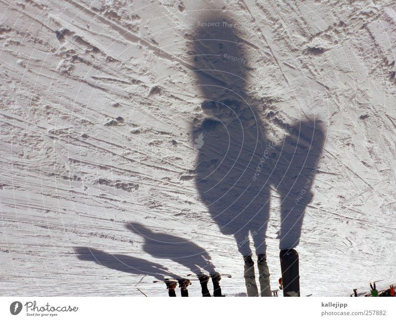 boarders line Mensch Winter Schnee Sport Berge u. Gebirge Menschengruppe Freizeit & Hobby Lifestyle stehen Skifahren Sport-Training Snowboard Winterurlaub Reflexion & Spiegelung Schatten