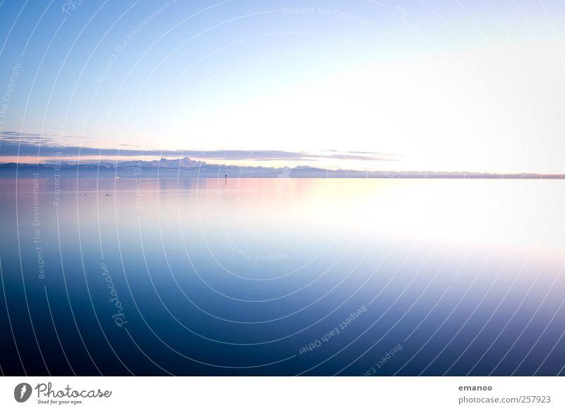 Bodensee Himmel Natur blau Wasser schön Ferien & Urlaub & Reisen Winter ruhig Schnee Umwelt Landschaft Berge u. Gebirge Freiheit Küste Luft See