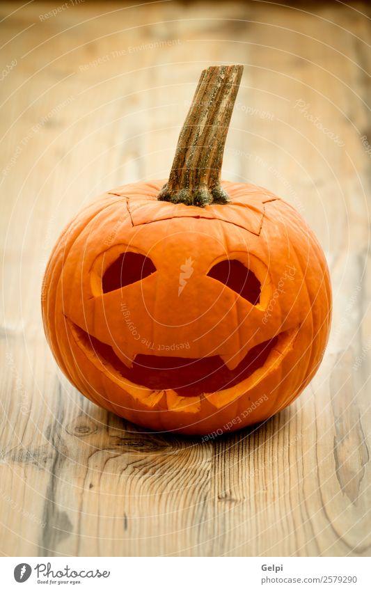 Halloween Gemüse Freude Gesicht Dekoration & Verzierung Feste & Feiern Herbst Kerze Holz Lächeln lachen gruselig lustig niedlich gelb weiß Angst Entsetzen