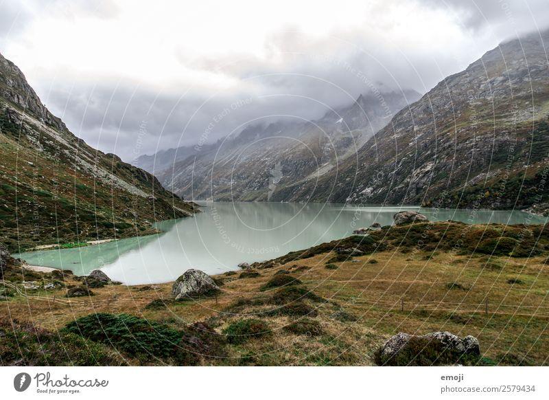 Göscheneralpsee Freizeit & Hobby Wandertag Umwelt Natur Landschaft Wolken Herbst Klima Wetter Berge u. Gebirge See Fluss außergewöhnlich natürlich grün