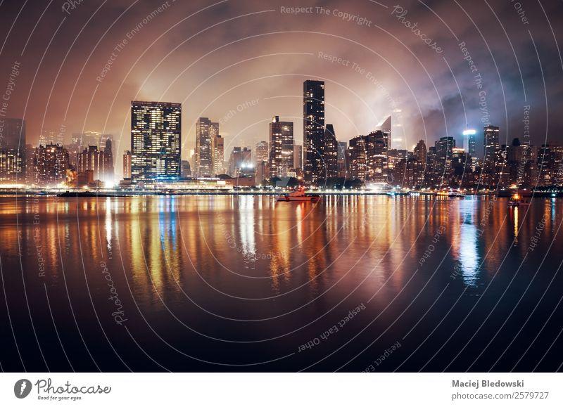 Himmel Gebäude Aussicht Hochhaus einzigartig Fluss Todesangst Skyline Stadtzentrum chaotisch Nostalgie bizarr Großstadt Desaster dramatisch Manhattan